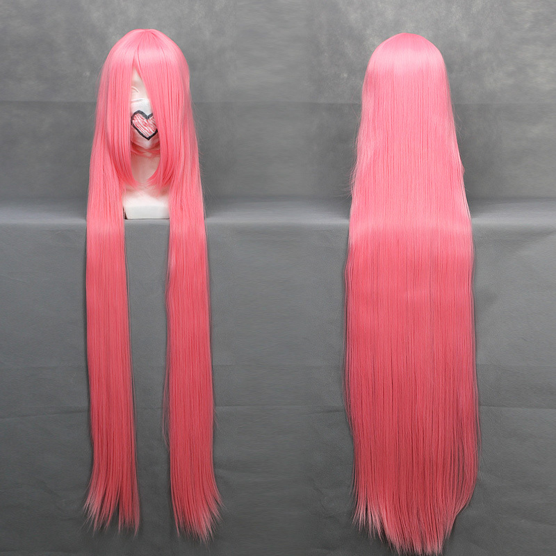 Watalidaoli Simca 120cm pink long straight anime cosplay costume wig,synthetic hair.Free shipping<br><br>Aliexpress