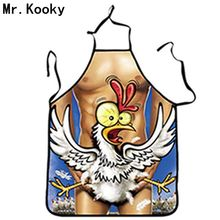 Mr.Kooky New Novelty Cool Funny Naked Animal Kitchen Cooking BBQ Aprons Bar Party Dress For Men Women Lovers Gifts Drop Shipping