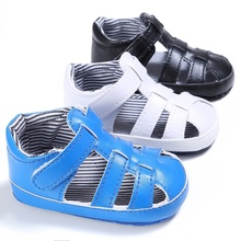 0-18M Summer PU Baby Boys Fashion Breathable Hollow Out Anti-slip Flip Flop Newborn Cack Sandal