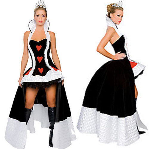 Alice In Wonderland Costume Women Adult Fantasy  Sexy Queen of Hearts Party Cosplay Fancy Costume