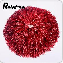 Relefree 1Pair Handheld Pom Poms Cheerleader Cheerleading Cheer Pom Dance Party Club Decor Gadget Accessories
