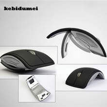 kebidumei available 2.4GHz Foldable Wireless Arc Optical Mouse Mice with Mini USB Receiver for Pad PC Laptop Notebook Computer