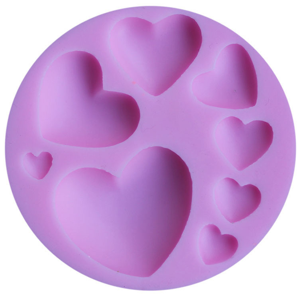 3D Silicone loving heart Shaped  Mold Fondant Cake Tool Chocolate Candy Cookies Pastry Soap Moulds Hot Sale