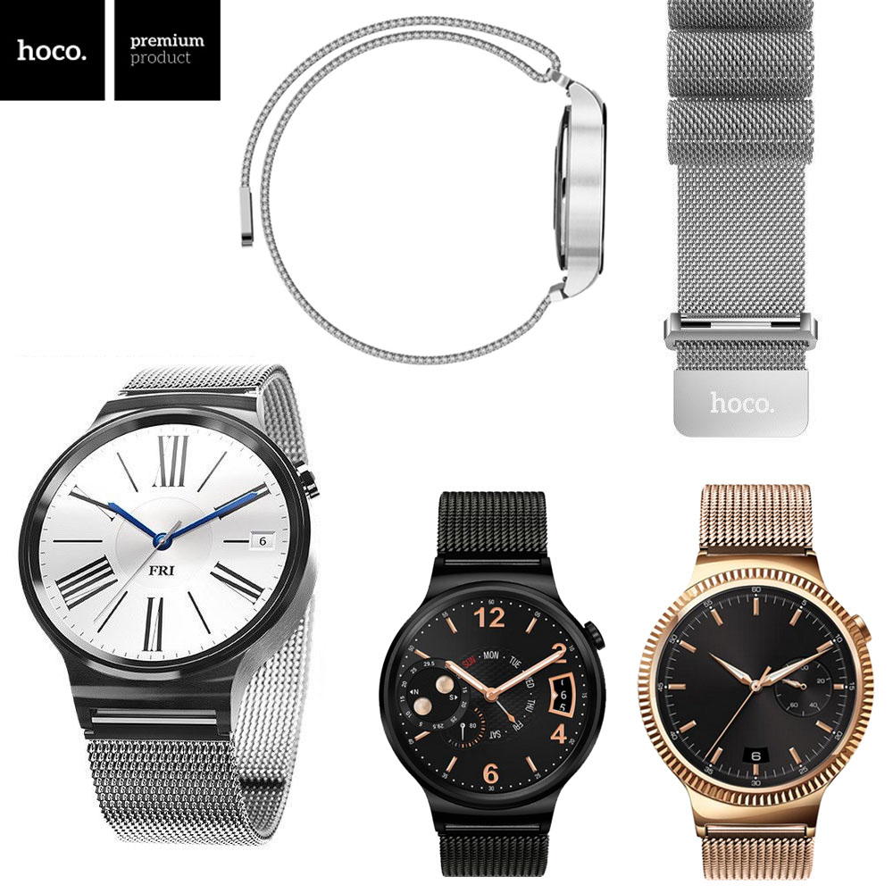 HOCO Milanese Loop Magnetic Closure Strap For Huawei Watch Band Replacement Stainless Steel Mesh Band For Huawei Smart Watch<br><br>Aliexpress