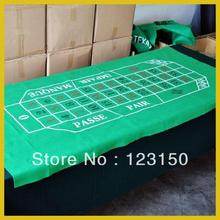 ZB-003 Non-woven fabric Texas Holdem Table Cloth, New Design Roulette Layout(China)