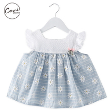 Cami Online Baby Cotton Dresses Cute Corsage Puff Sleeve Daisy Print Toddler Girls Clothing Casual Summer Follow Girl Dress