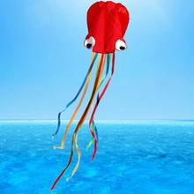 3D 4m Octopus Kite Single Line Stunt /Software Power Kite Easy To Fly Kids Outdoor Fun
