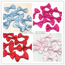 200pcs  Ployester Satin Ribbon Bows Ties Flower Embellishments For Scrapbooking DIY Crafts Jewelry Making Wedding Cardmaking Bow