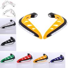 "Yellow Black White Red Green Blue LED 7/8"" Universal Motorcycle Hand Guards Handguards hand Protectors Dirt Bike ATV KTM(China)"