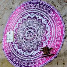Top Selling Indian Round Mandala Beach Throw Yoga Mat Towel Bohemian Roundie Tapestry Beach Towel Yoga Mat Blanket Table Cloth