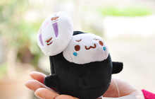 Super Cute Small Black Mask Toys 10CM approx. Plumpy Doll , Keychain Plush Stuffed Mask Toy Party Gift Toys