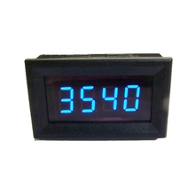 Car Digital Tachometer Tacho Gauge Blue LED with Battery Overvoltage alarm CAR MOTOR AUTO METER(China)
