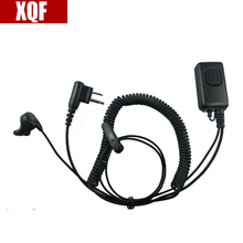 XQF 2 Pin Covert Headset/Earpiece Throat Mic For Motorola GP Series GP68 CP SP CT PRO P XTN CLS Spirit M Series Radio(China)