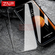 ZNP 0.26mm 9H Premium Tempered Glass For iphone X 8 7 6 6s Plus Screen Protector For iphone X 8 7 6 6s 5 5s 4 Protective Glass(China)