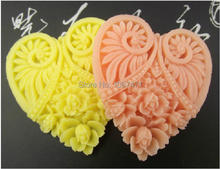 Big Heart flowers Yellow decorative Corsage accessories handmade resin jewelry material resin flower 48mmx50mm 5pcs(China)