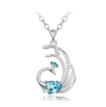 2016 new arrival Austria crystal & 925 sterling silver phoenix style pendant necklaces jewelry wholesale