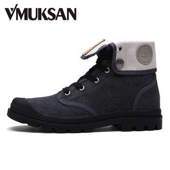 VMUKSAN Primavera Botas de Los Hombres de Moda Zapatos De Lona High Top 2017 Nuevas Botas Militares Tobillo de Goma Botas Masculina Zapatos de Los Hombres