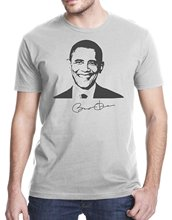 2017 Short Sleeve O-Neck T Shirt Mens Fashion Men Harajuku Funny Tops Barack Obama Signature T-Shirt