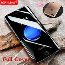 1PC 3D Full Cover Tempered Glass For Apple Iphone ayfon 7 7Plus 6 6S Plus I7 I6 I6S + Back Film As Gift Protective films Case(China)