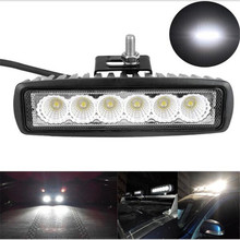 10X6 inch Mini 18W LED Light Bar 12V 24V Motorcycle LED Bar Offroad 4x4 ATV Daytime Running Lights Truck Tractor Warn Work Light