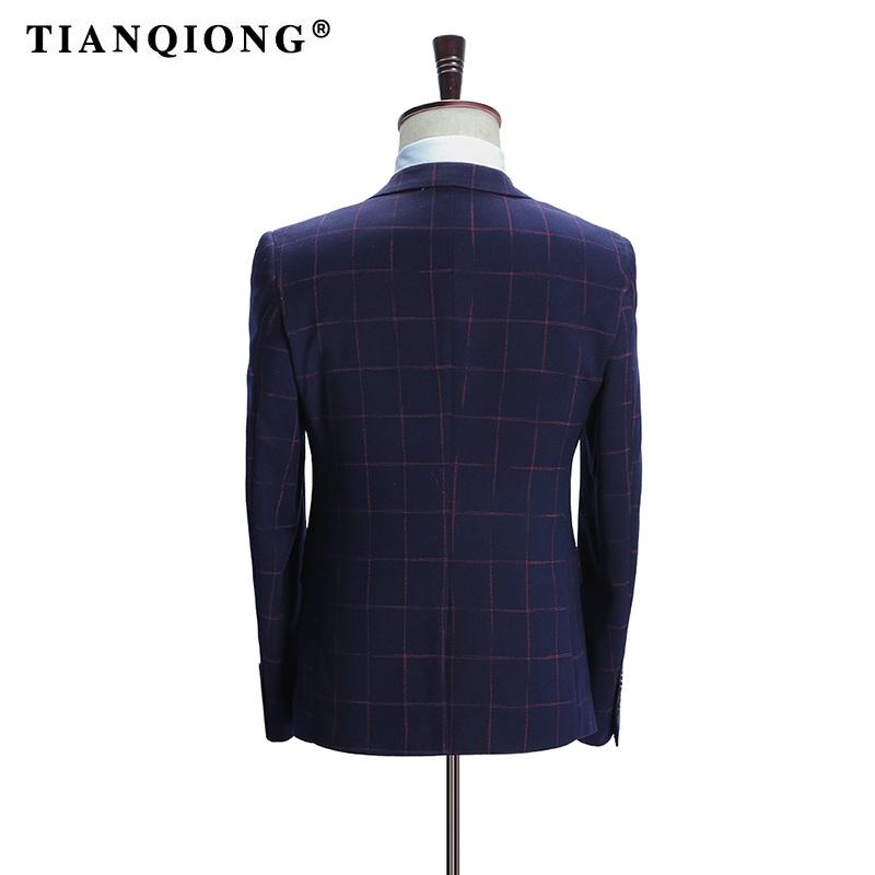 HTB1ZuFrSpXXXXbLXFXXq6xXFXXXT - TIAN QIONG Brand Plaid Suit Men 2017 Slim Fit Mens Formal Wear Male Business Suits High Quality 3 Piece Groom Wedding Suit S/3XL