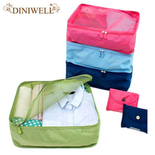 Foldable Portable Nylon Mesh  Storage Bags For Clothes Travel Pouch Luggage Organizer Tidy Box MUS