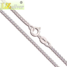 2pcs Gold/Silver Plated Box Chain Genuine Solid Necklace 1.5 mm in Width 24inches L1732(China)