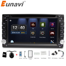 Eunavi universal Car Radio Double 2 din Car DVD Player GPS Navigation In dash Car PC Stereo Head Unit video+Free Map+Free Cam!(China)