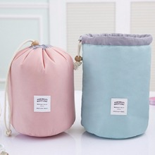 Waterproof Barrel Shaped Travel Cosmetic Wash Gargle Bag Drawstring Design Multifunctional Makeup Storage Bag Hot New(China)