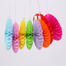 1 Pcs/set Colorful Chinese Paper Fans Decorations Hanging Flower Fans Folding Fans Party Home & Wedding Decorations Garland