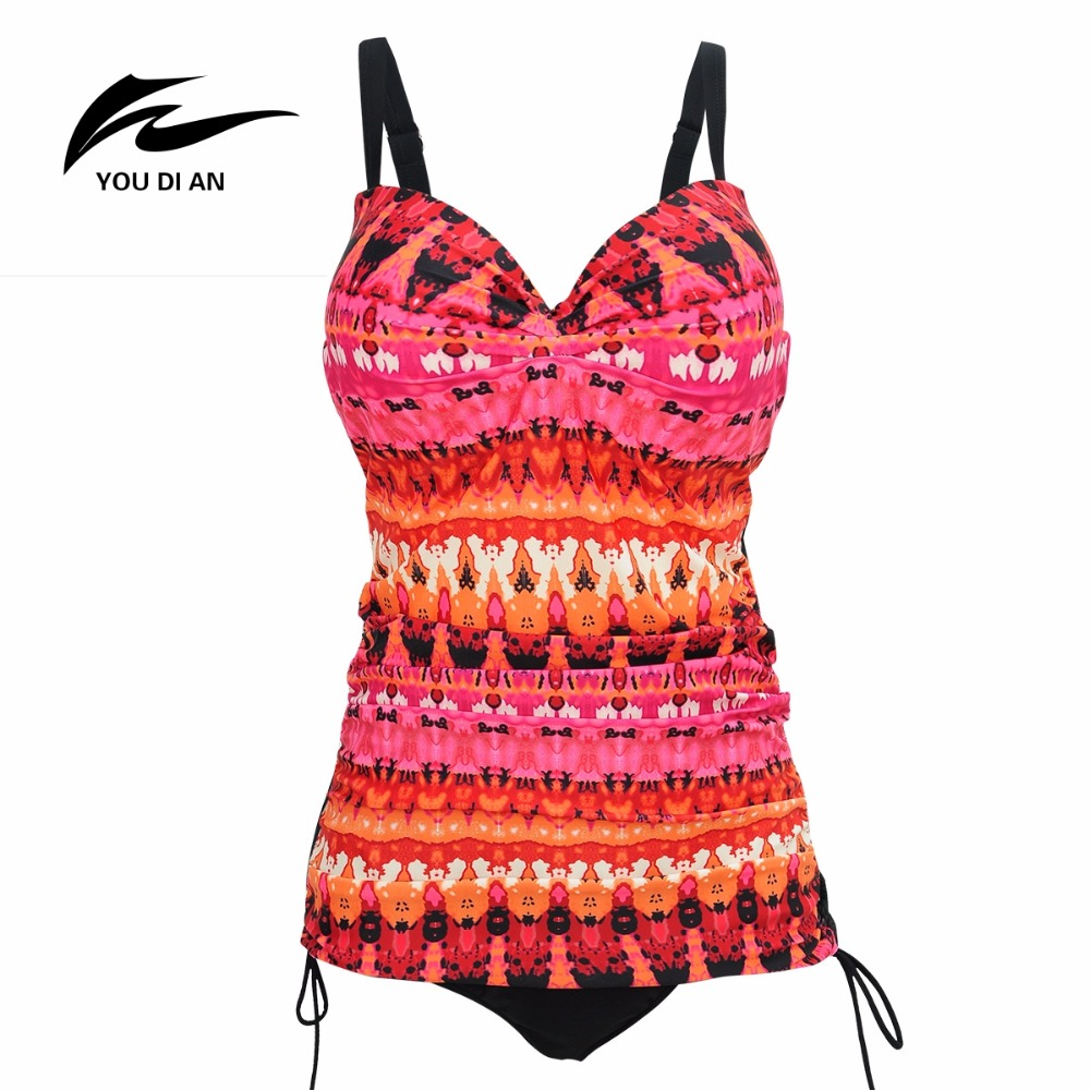 2017 New Arrival Large Swimwear Plus Size Women Swimsuit One Pieces Print Swimwear Sexy Hot Sale Halter Push Up Swimming Suit<br>