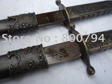 Collectable WWII  Chinese nationalist party (KMT) officer Katana/ DAO,a pair
