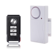 Chuangkesafe White Color ABS Remote Control Door Sensor Alarm Host Burglar Security Alarm System Home