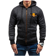 Hoodies Men 2017 Brand Male Hoodie Sweatshirt Mens Zipper Moletom Masculino Hoodies Slim Tracksuit Large Size XXL(China)