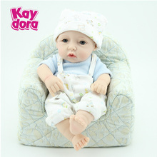 10'' New Reborn Realistic Dolls Fake Baby Boy Soft Vinyl Collectible Kids Toys Full Body Reborn Baby