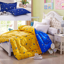 4 size 2015 New comforter set star and moon thick winner comforter 3pcs/set comforter set 150*200cm, 180*210cm, 200*230, 220*240