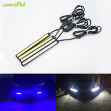 2Pcs/Lot Waterproof LED Daytime Running Light External DRL Car Lights Source Styling Auto Fog Lamp 10.5-24.5CM For BMW Ford Audi(China)