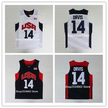 #14 Anthony Davis 2012 London Dream Team USA Throwback Basketball Jersey US Size S-XXL(China)
