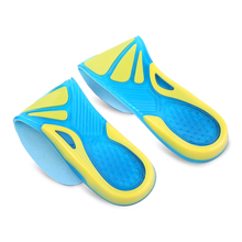 MWSC Silicone Height Increase Insoles Heel Arch Support Shoe Inserts Shock Absorption Foot Care Gel Shoepads(China)