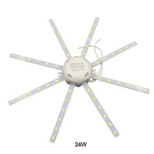 LED light board LED bulb celling lamp 5730SMD 12W/16W/24W high bright white octopus Round kitchen lamp bedroom Energy Saving