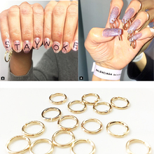 2017 Nail Art Trends 50pcs Hoop nails Chain nails Super excited for your nail design