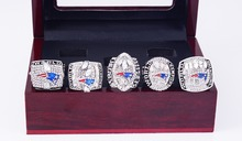 New Arrival Drop Shipping For 2001/2003/2004/2014/2016 New England Patriots Championship Set With Wooden Box(China)