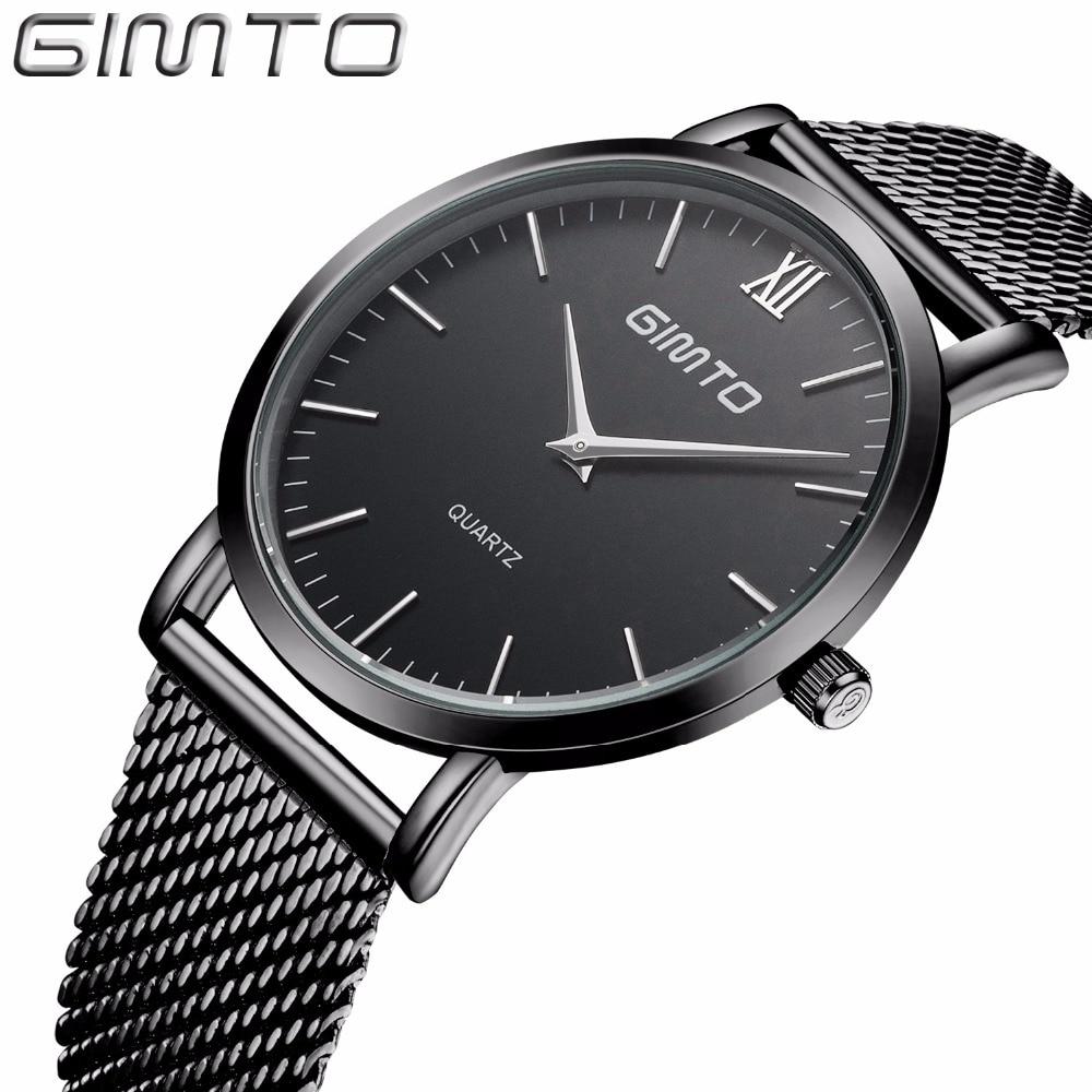 Ultra-thin Men Casual Watches Popular Stainless Steel Quartz Women Business Dress Wristwatch Unisex Luxury Lovers Gift Clock<br><br>Aliexpress