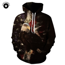 2017 New American Flag Eagle Hoodies Sweatshirt USA Autumn Winter Men's 3d Hooded Tracksuit Hip Hop Casual Pullover Plus S-6XL(China)