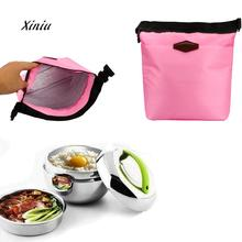 2018 New Arrival Portable Lunch Bag Packet Waterproof Thermal Cooler Insulated Lunch Box Portable Tote Storage Food Picnic Bags(China)