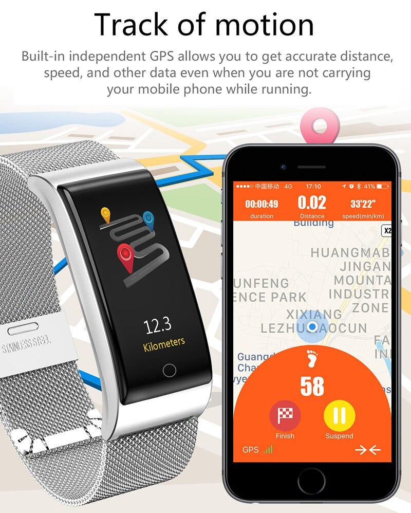 VERYFiTEK F4 Metal Smart Band Wristband Blood Pressure Heart Rate Monitor Men Women Fitness Watch Pedometer Smart Bracelet (24)