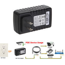 DC 48V 0.5A Active POE Injector Ethernet Power Adapter for CCTV POE IP CameraPOE Switch Ethernet Power Adapter(China)