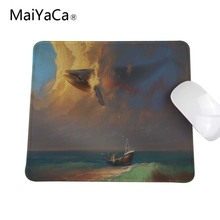 Whale Surfing The Sky Fast Printing Rubber Gaming Overlock Mouse Pad for Size 180*220mm 200*250mm or 250*290mm(China)