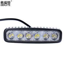 2017 New 1800LM 6000-6500K Cool White Mini 18W 6 LED Car Light Bar Off-road Car Worklight Light for Car Indicator Motorcycle(China)