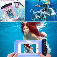 1pc Universal Waterproof Screen Touch Bag Case Cover For Meizu M2 Note Sealed Water Resistance Diving Pouch(China)